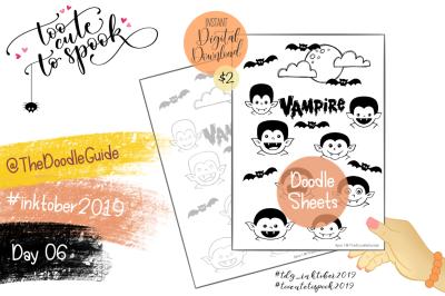 Inktober 2019 - Day 6: Vampire