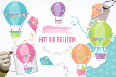 Hot Air Balloon graphic and illustration