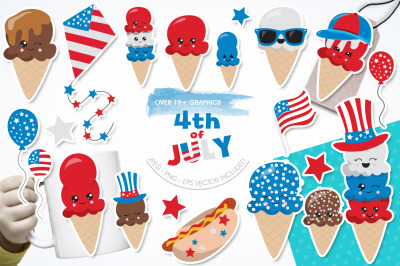 4th of July graphic and illustration