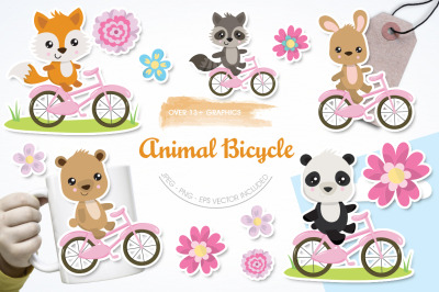 Animal Bicycle graphic and illustration