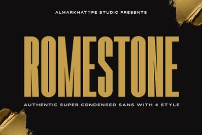 Romestone - Super Condensed Sans