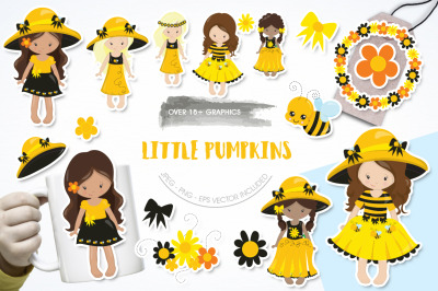 Little Pumpkins graphic and illustration