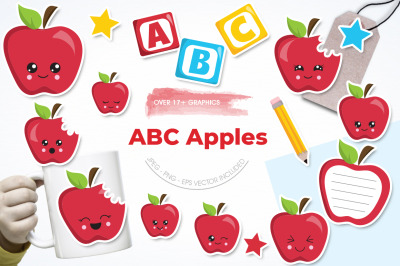 ABC Apple graphic and illustration