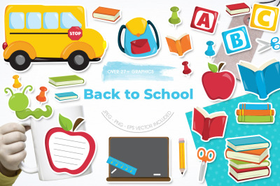 Back to School graphic and illustration