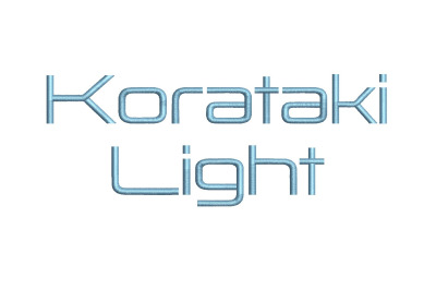 Korataki Light 15 sizes embroidery font (RLA)
