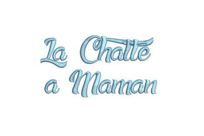 La Chatte a Maman 15 sizes embroidery font