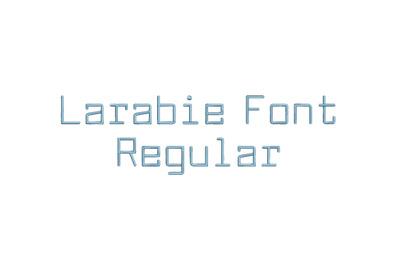 Larabie Font Regular 15 sizes embroidery font (RLA)