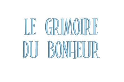 Le Grimoire du Bonheur 15 sizes embroidery font