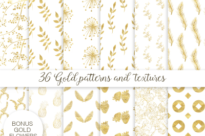 36 gold patterns and textures