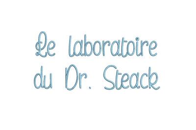 Le laboratoire du Docteur Steak 15 sizes embroidery font