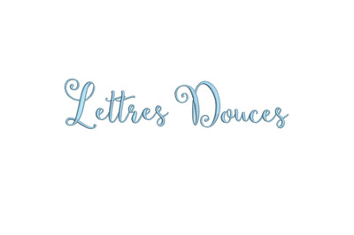 Lettres Douces 15 sizes embroidery font