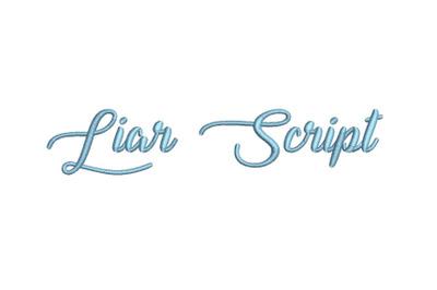 Liar Script 15 sizes embroidery font (MHA)
