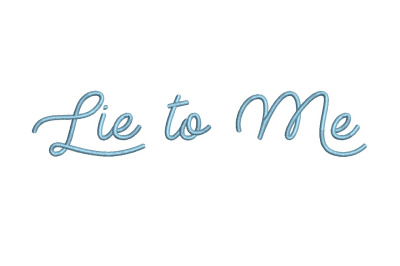 Lie to Me 15 sizes embroidery font (MHA)