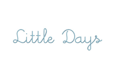 Little Days 15 sizes embroidery font