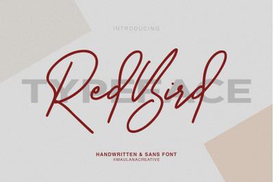 Redbird Signature Font Free Sans