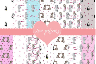 patterns with lovers. Valentine's day design