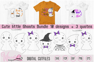 Cute ghost bundle, Ghost quotes, Halloween DIY decoration, ghost with