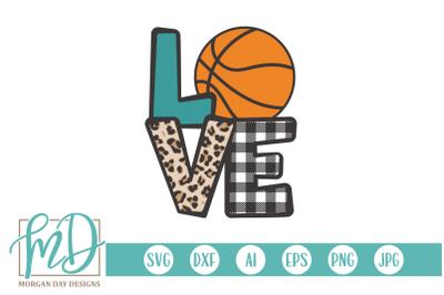 Basketball Love SVG