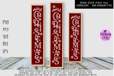 Merry christmas vertical sign svg, christmas vertical sign svg