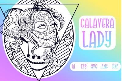 Calavera Lady SVG