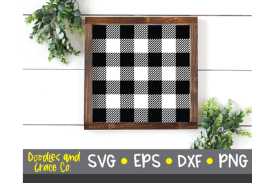 Buffalo Plaid SVG - SVG Cutting File - SVG - DXF - EPS - PNG