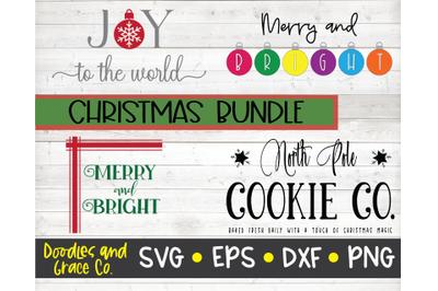 Christmas SVG Bundle - 4 designs - SVG, DXF, PNG, EPS