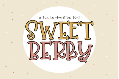 Sweet Berry - A Fun Handwritten Font