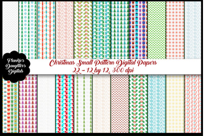 Christmas Small Patterns Paper Bundle