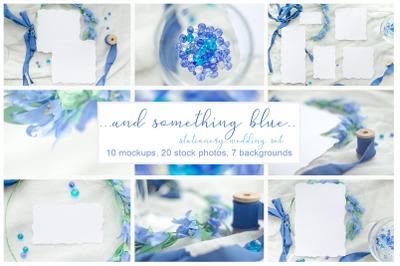 Something blue. Wedding mockups & stock photo bundle