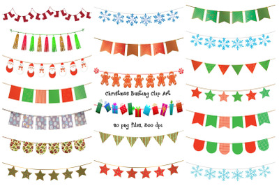 Christmas Bunting Clip Art