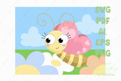 Butterfly SVG background download, field background PNG illustration
