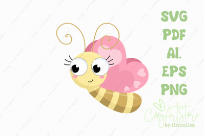 Butterfly SVG, cute bug PNG, Cute baby bug Cut file, Cute Btt