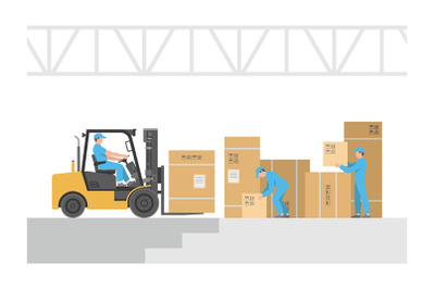Delivery service. Warehouse logistic