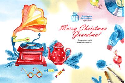 Merry Christmas Grandma! Xmas set