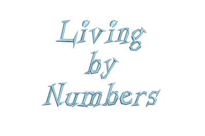 Living by Numbers 15 sizes embroidery font (RLA)