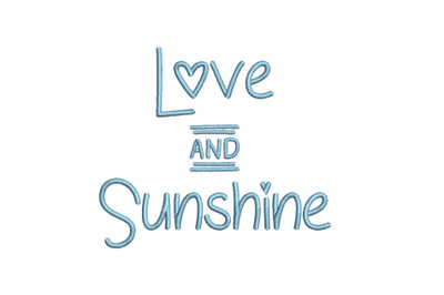 Love and Sunshine 15 sizes embroidery font (MHA)