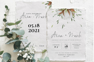 Cotton Greenery Wedding Suite