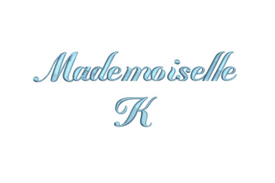 Mademoiselle K 15 sizes embroidery font