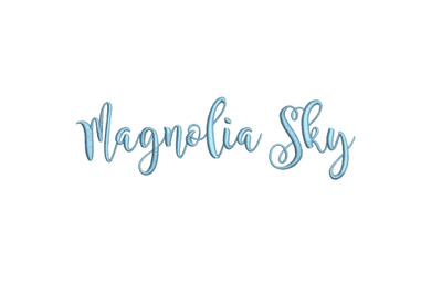 Magnolia Sky 15 sizes embroidery font