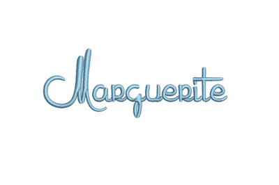 Marguerite 15 sizes embroidery font