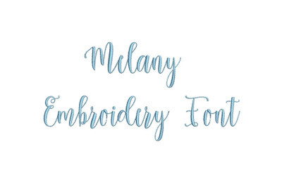 Melany 15 sizes embroidery font