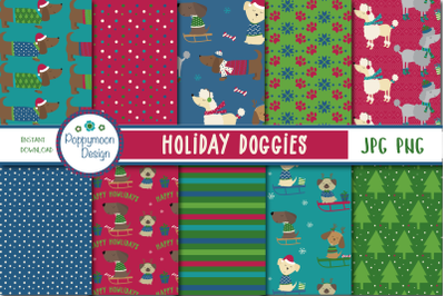 Holiday Doggies paper