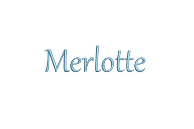 Merlotte 15 sizes embroidery font