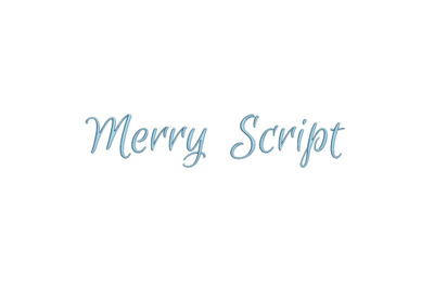 Merry Script 15 sizes embroidery font