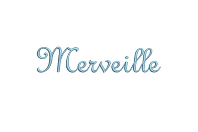 Merveille 15 sizes embroidery font
