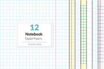 Notebook Digital Paper, School Paper, Homework, Exercise, Classroom