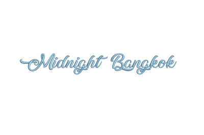Midnight Bangkok 15 sizes embroidery font