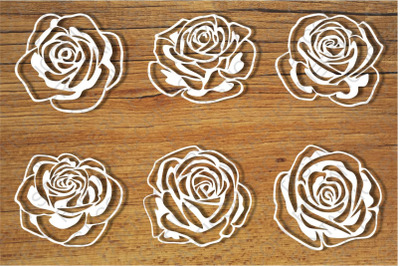 Roses and Stencil SVG files for Silhouette Cameo and Cricut.