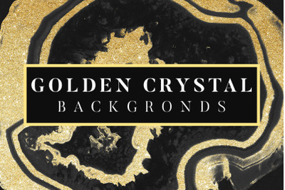 Golden Crystal Backgrounds