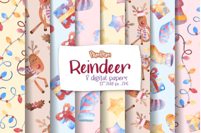 Reindeer Digital Papers